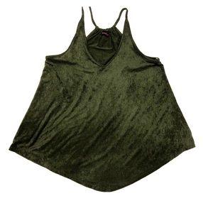 Annabelle Camisole Tank Top Dark Green Size Lg